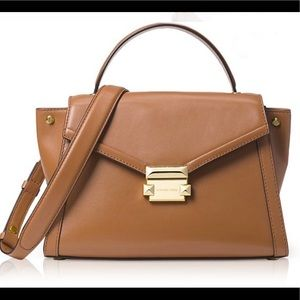Michael Kors Whitney Satchel (Luggage color)